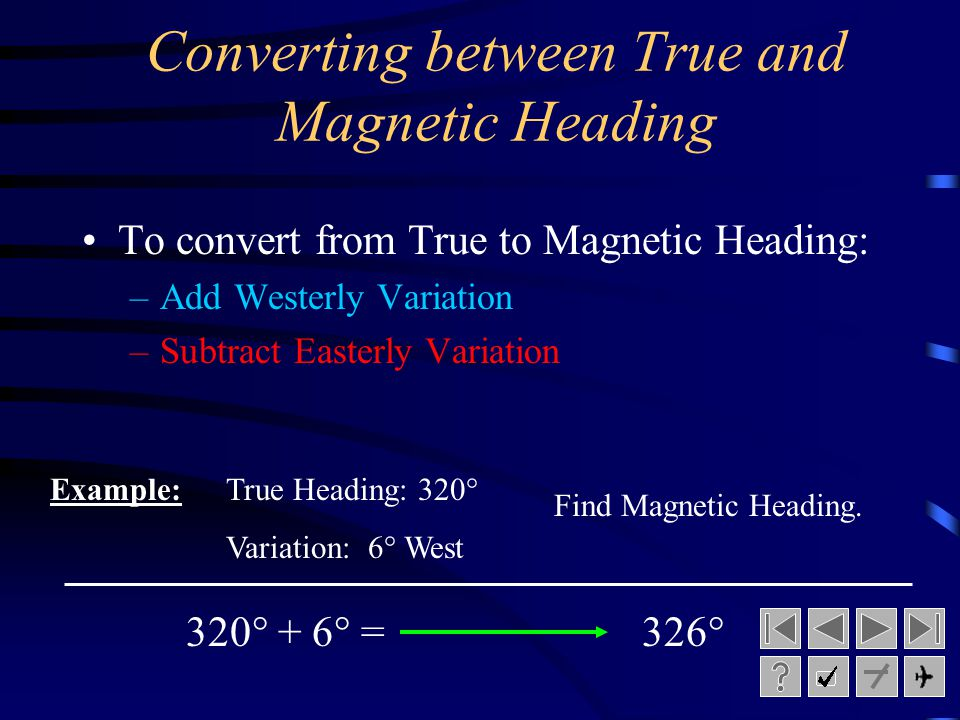 Converting between True and Magnetic Heading