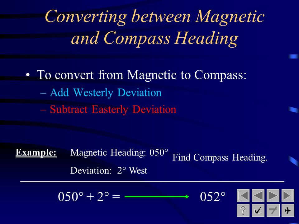 Converting between Magnetic and Compass Heading