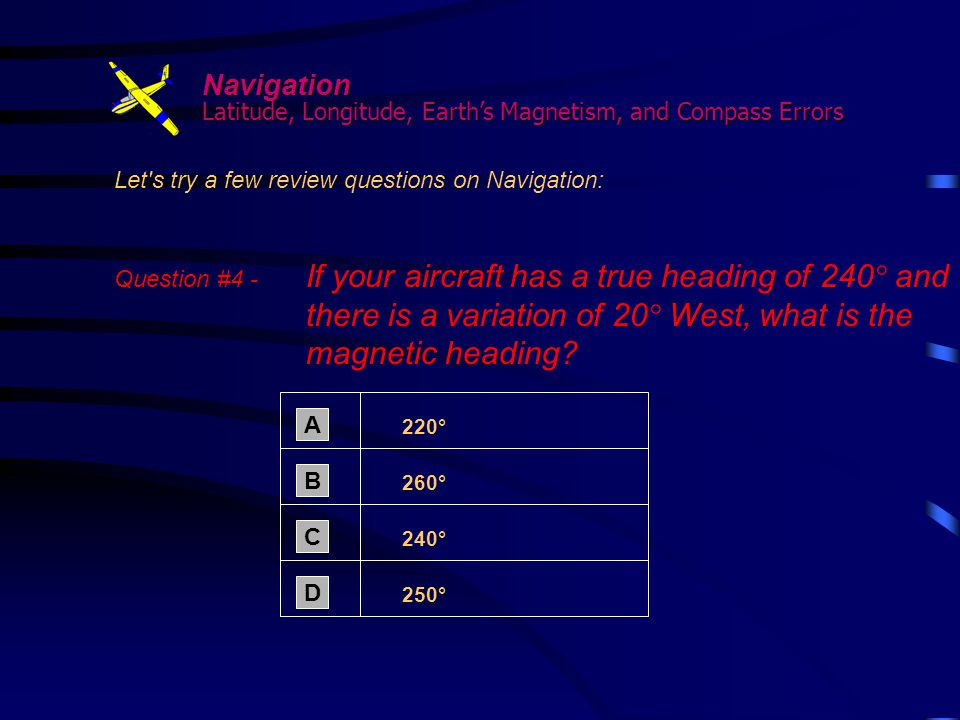 Navigation Latitude, Longitude, Earth's Magnetism, and Compass Errors