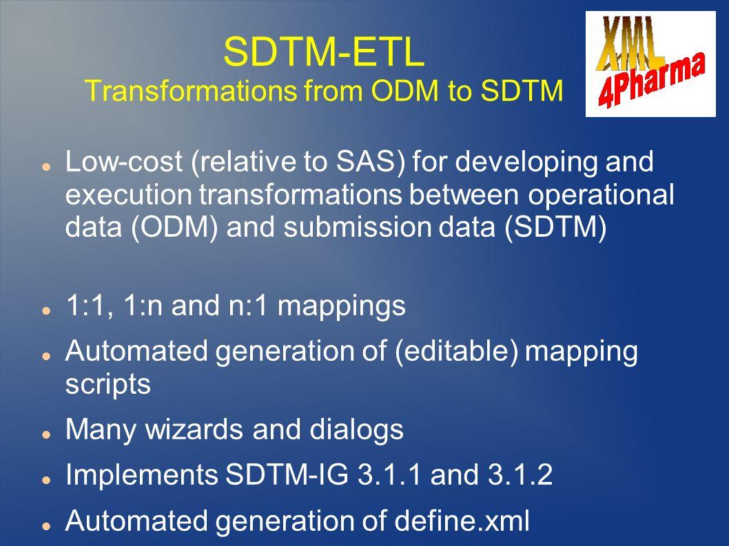 SDTM-ETL Transformations from ODM to SDTM