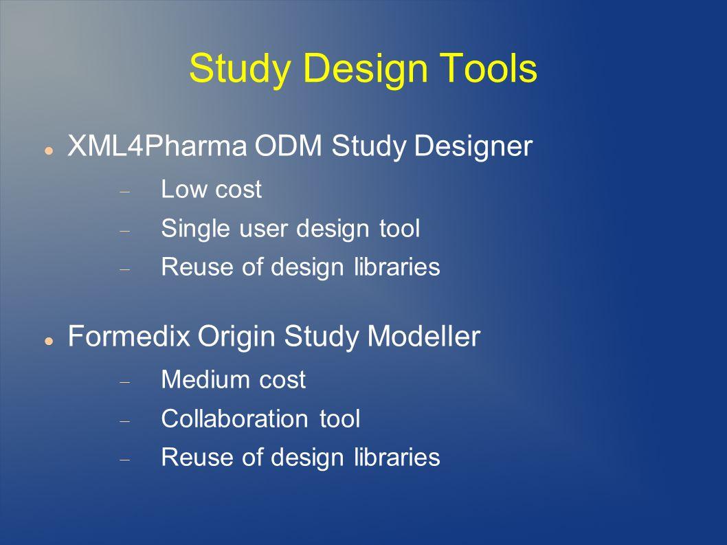 Study Design Tools XML4Pharma ODM Study Designer