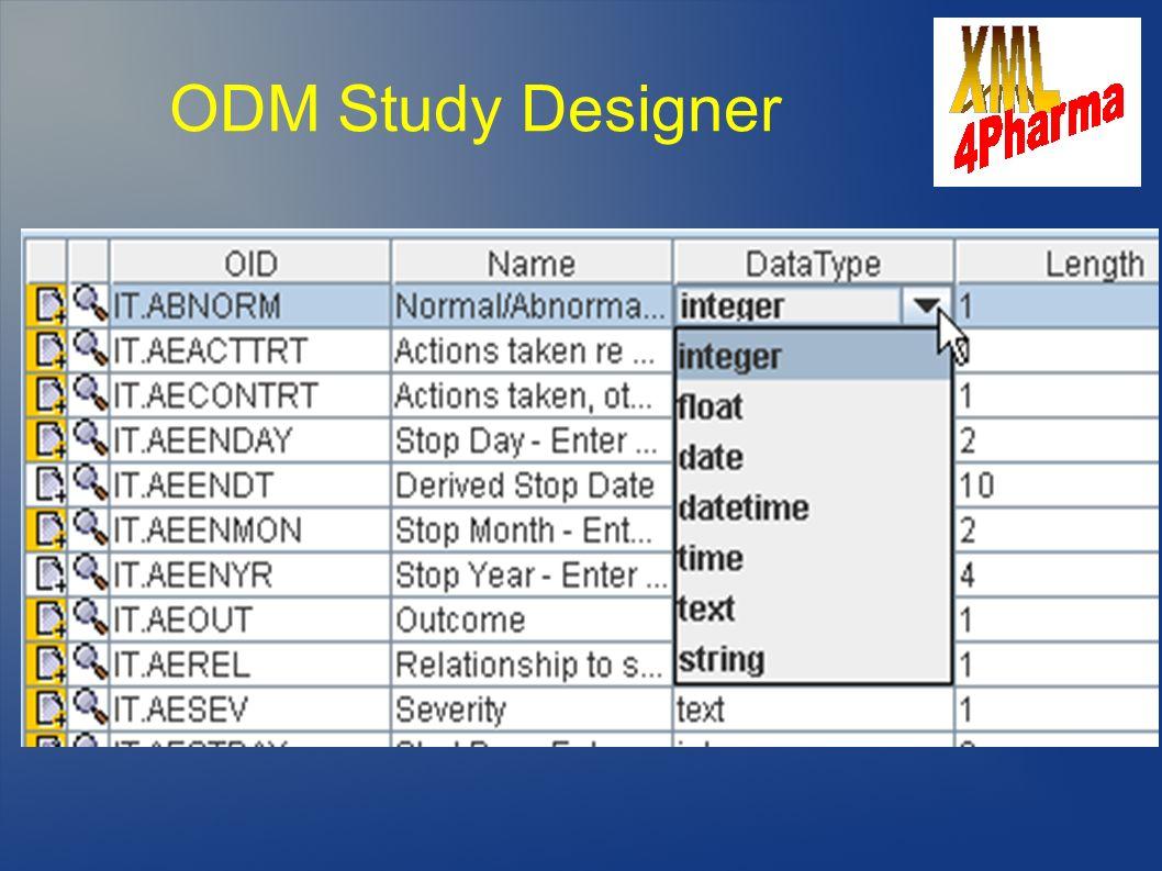 ODM Study Designer