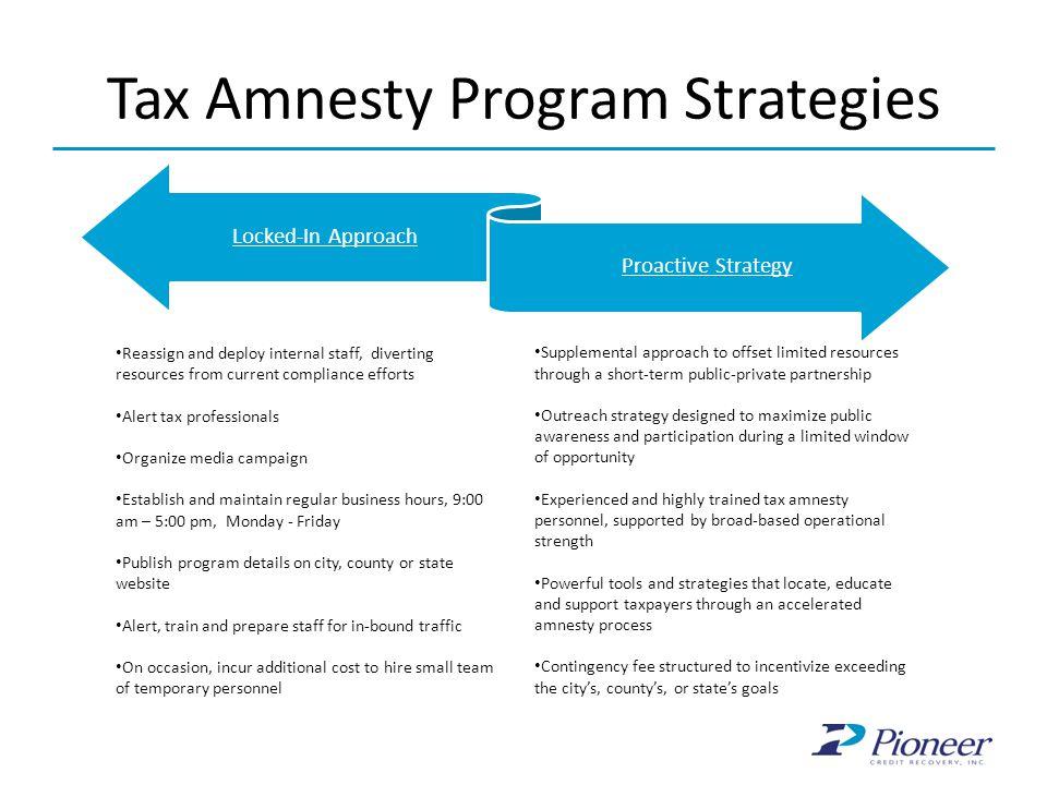 Tax Amnesty Program Strategies