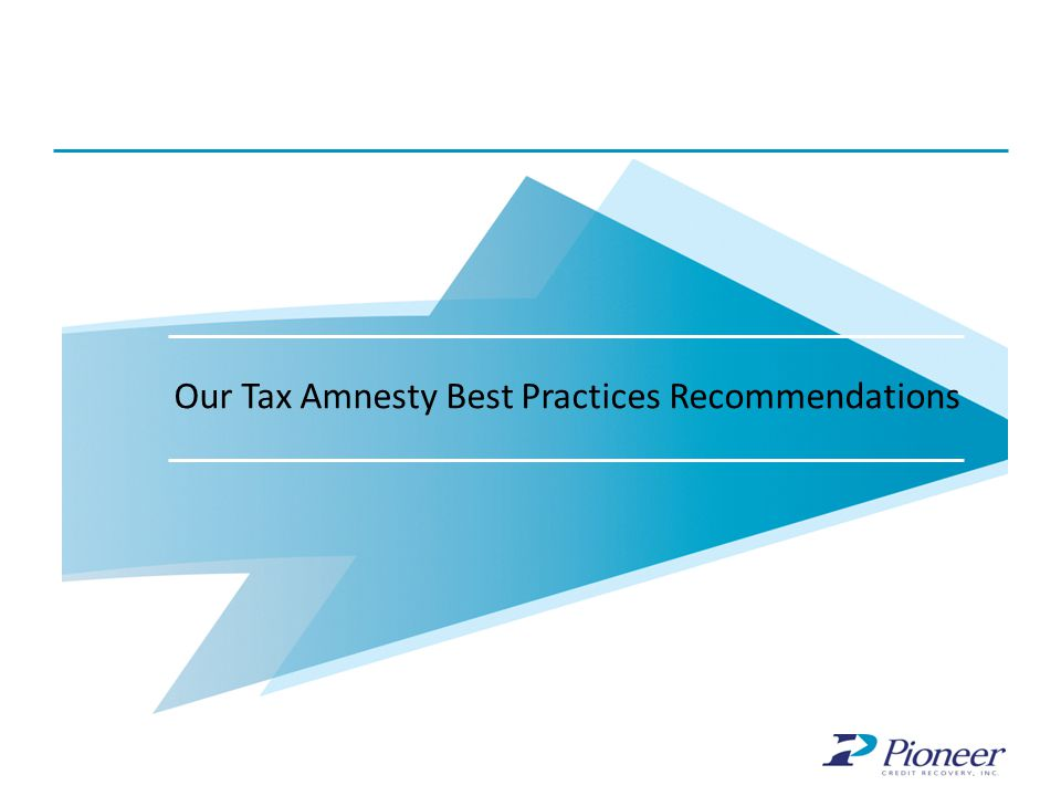 Our Tax Amnesty Best Practices Recommendations