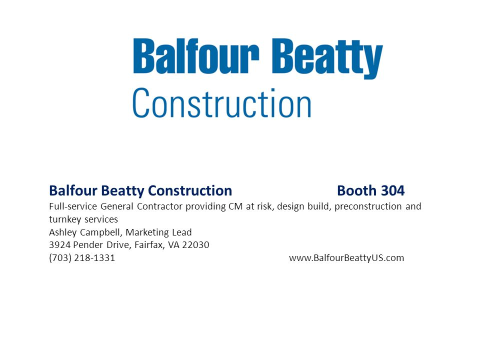Balfour Beatty Construction Booth 304