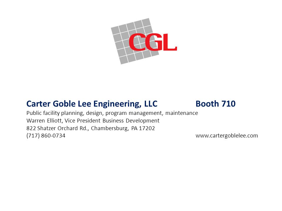 Carter Goble Lee Engineering, LLC Booth 710