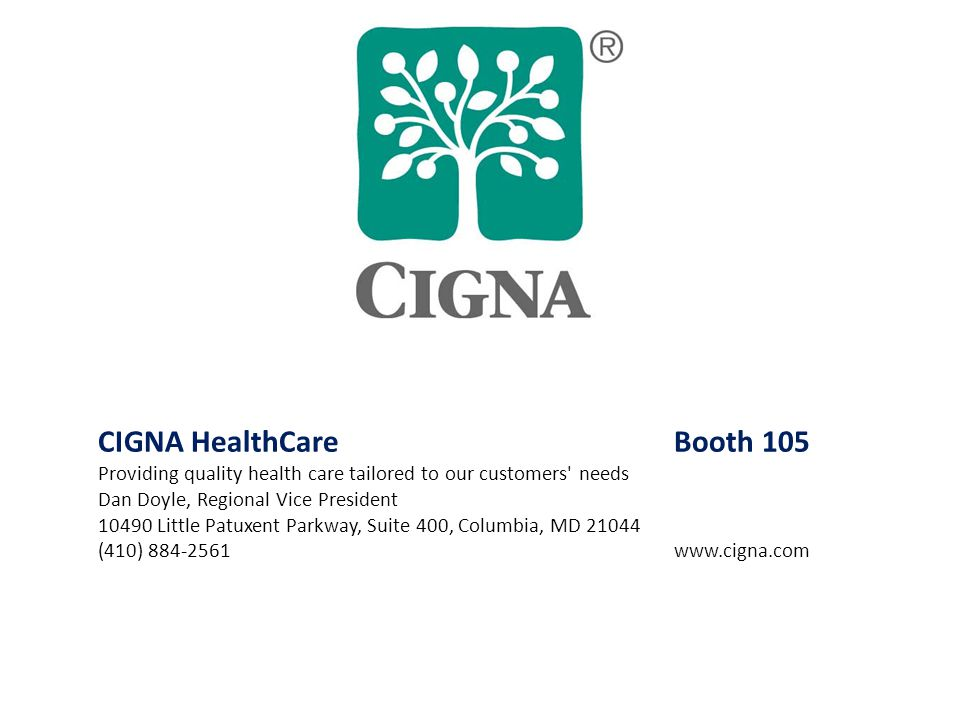CIGNA HealthCare Booth 105
