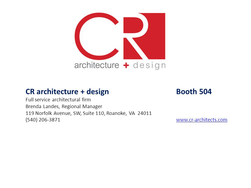 CR architecture + design Booth 504