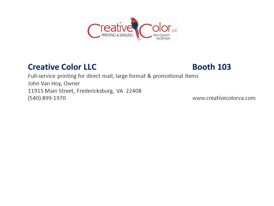 Creative Color LLC Booth 103