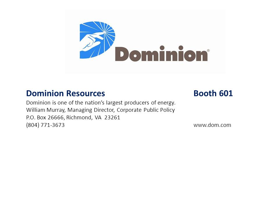 Dominion Resources Booth 601
