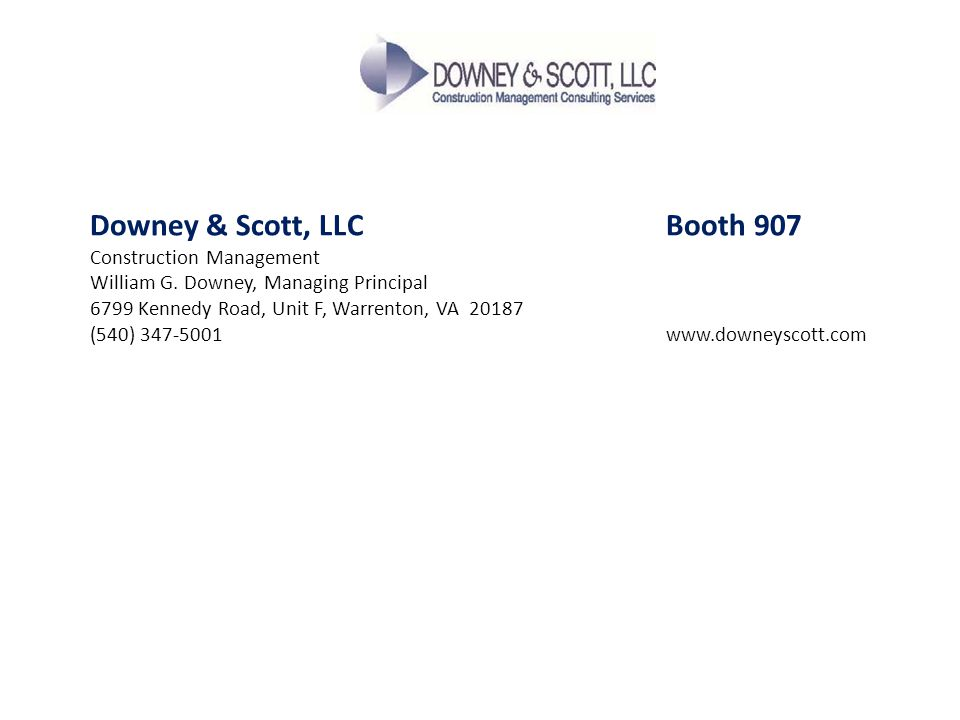 Downey & Scott, LLC Booth 907