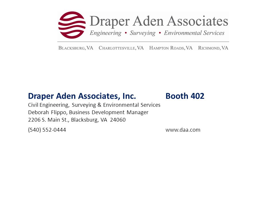 Draper Aden Associates, Inc. Booth 402