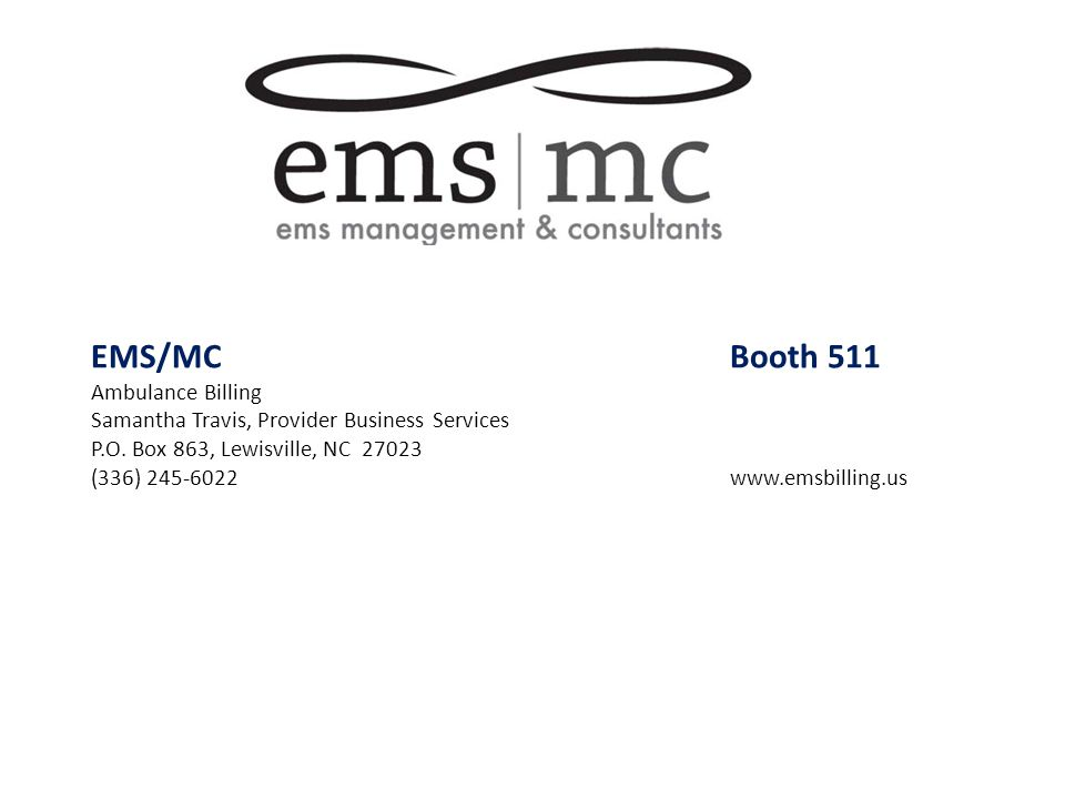 EMS/MC Booth 511 Ambulance Billing