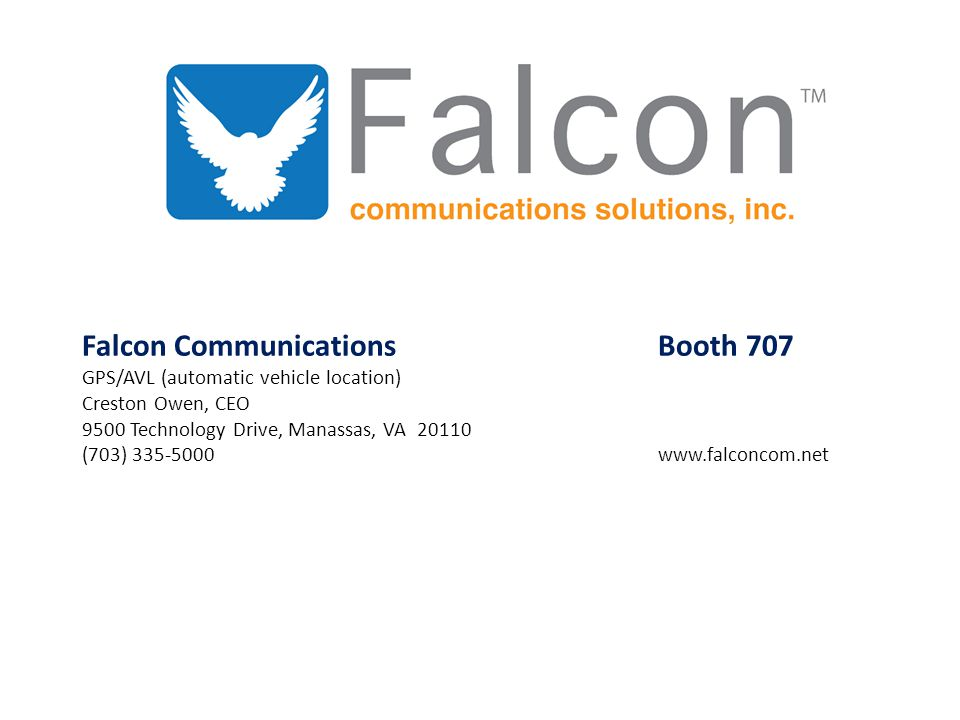 Falcon Communications Booth 707