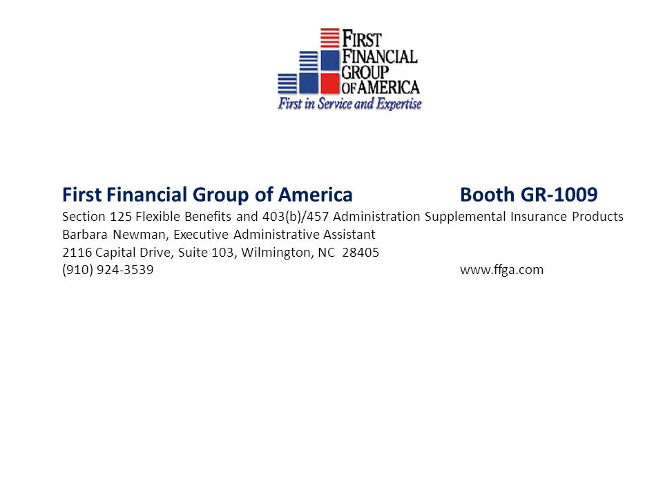 First Financial Group of America Booth GR-1009