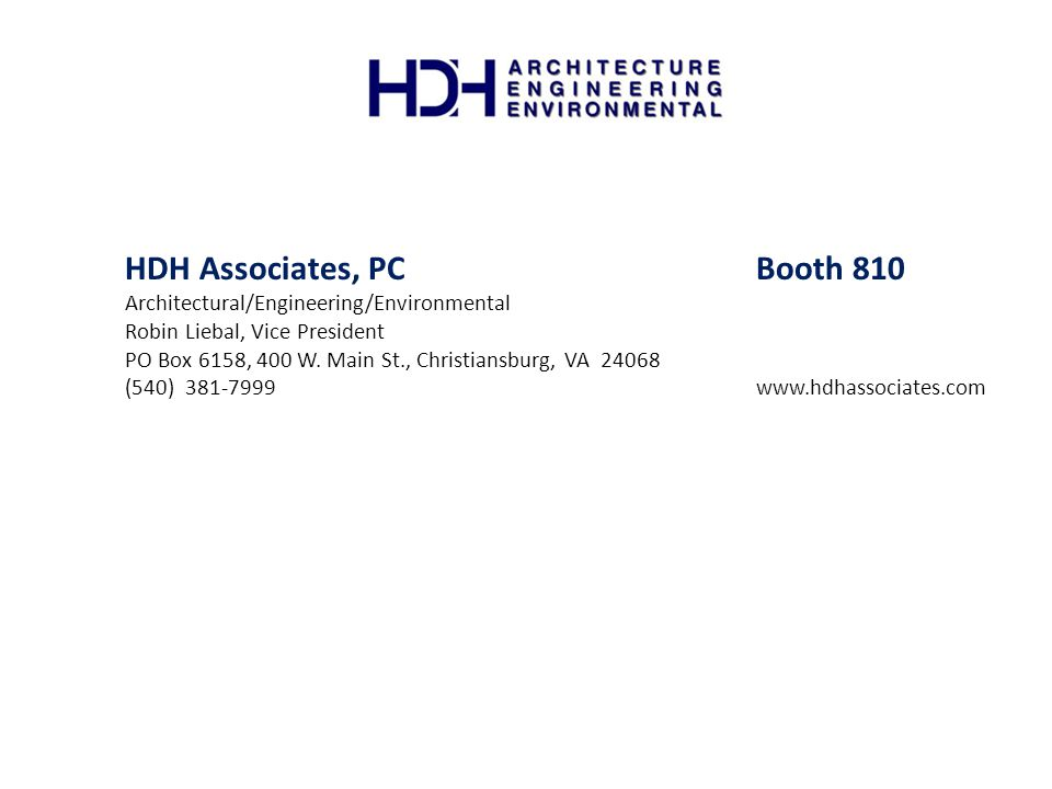 HDH Associates, PC Booth 810