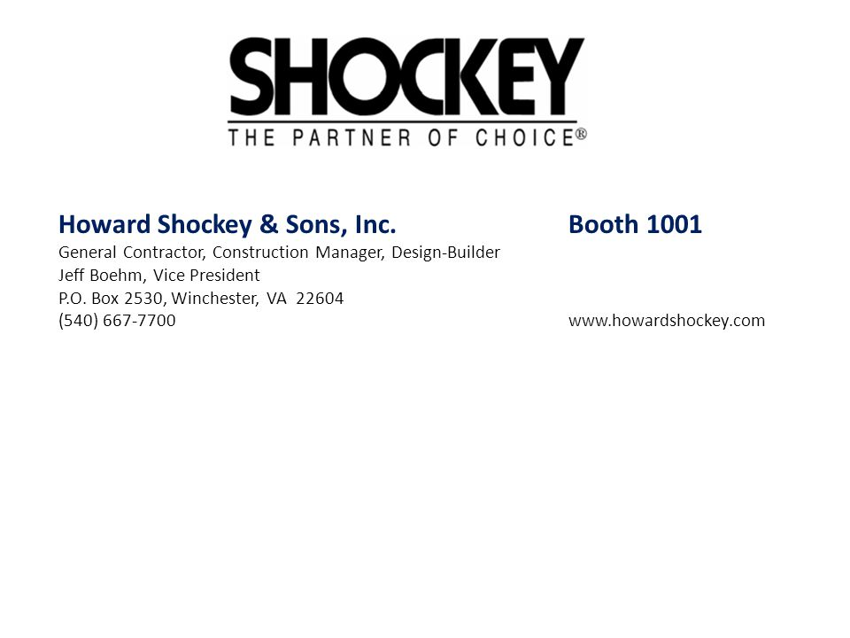 Howard Shockey & Sons, Inc. Booth 1001