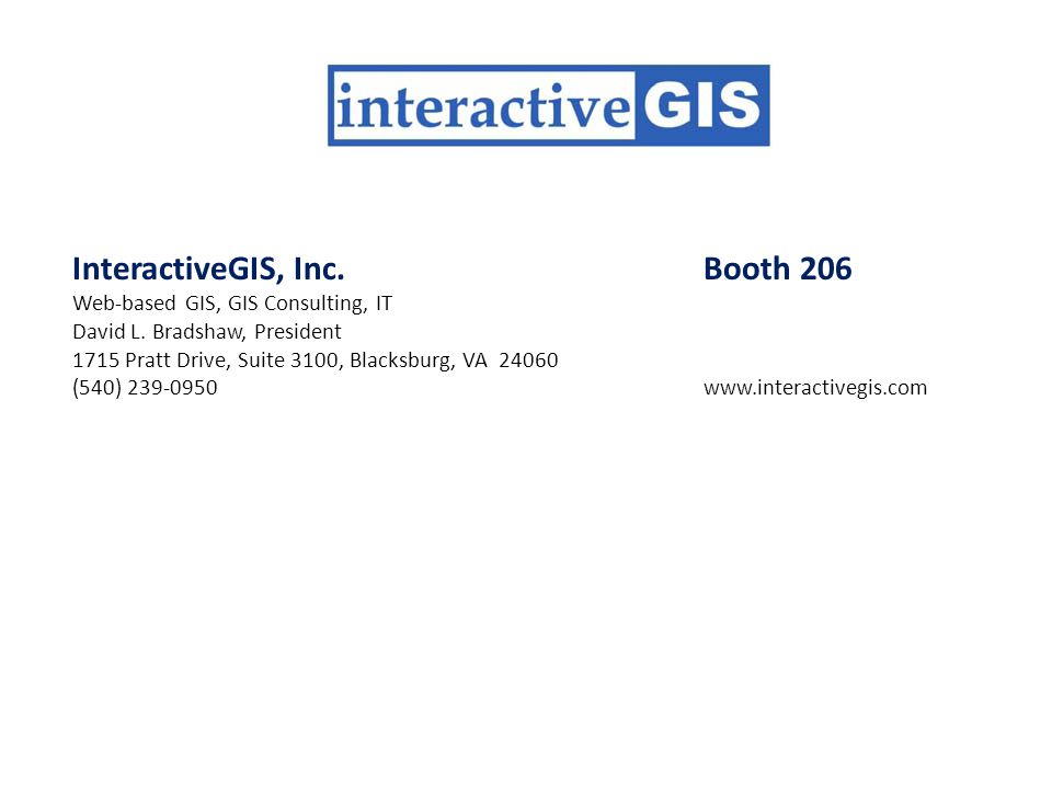 InteractiveGIS, Inc. Booth 206