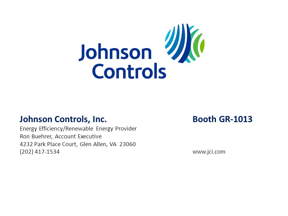 Johnson Controls, Inc. Booth GR-1013