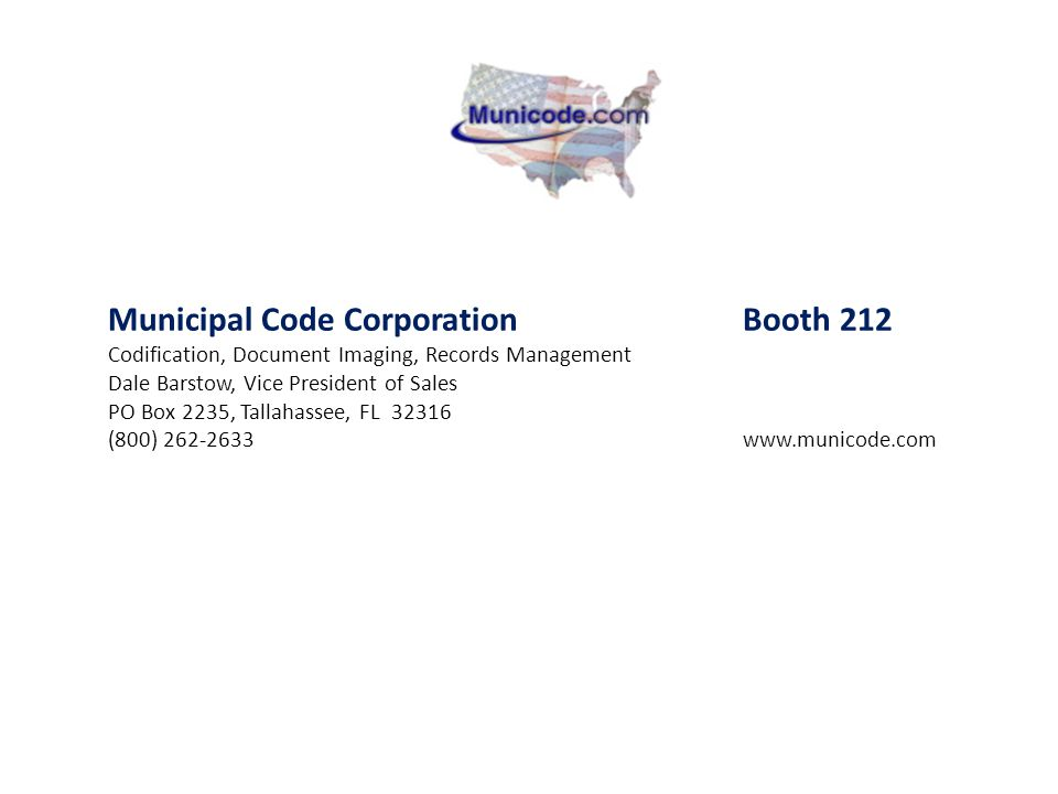 Municipal Code Corporation Booth 212