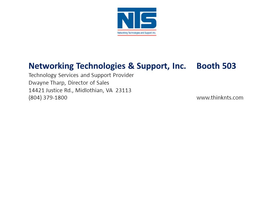 Networking Technologies & Support, Inc. Booth 503