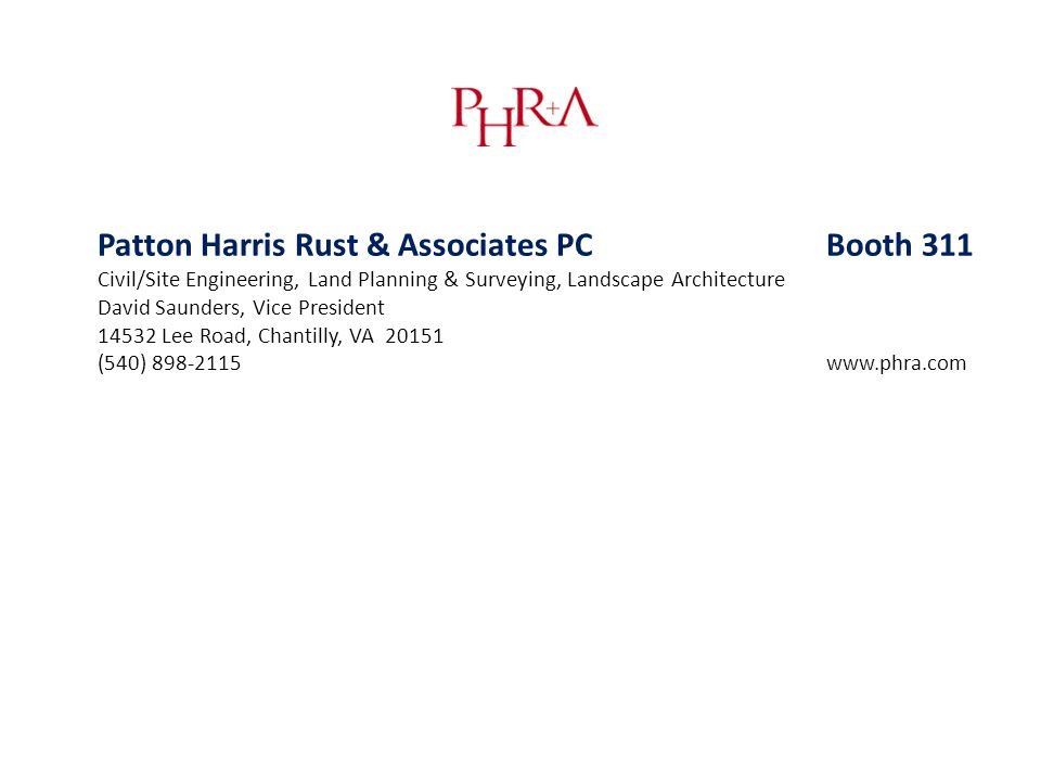 Patton Harris Rust & Associates PC Booth 311