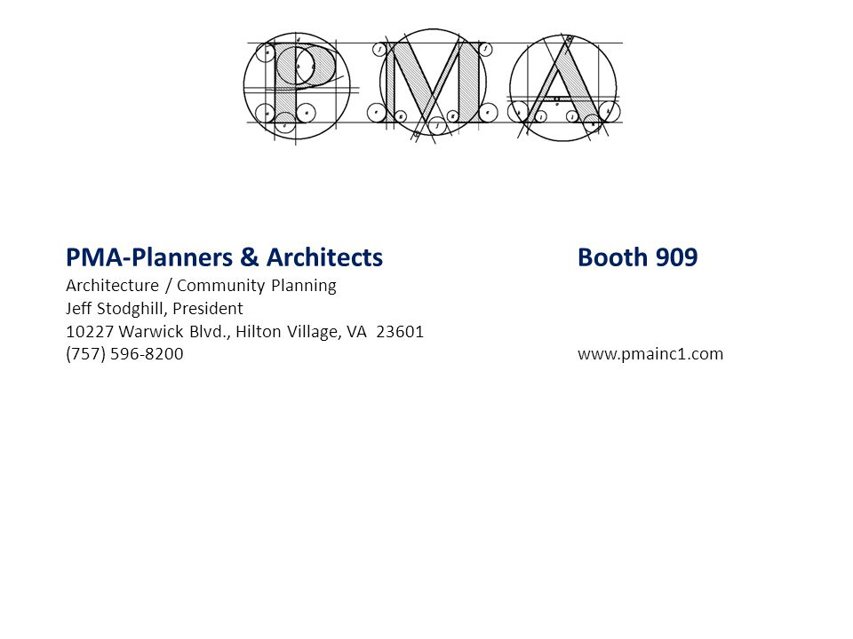 PMA-Planners & Architects Booth 909