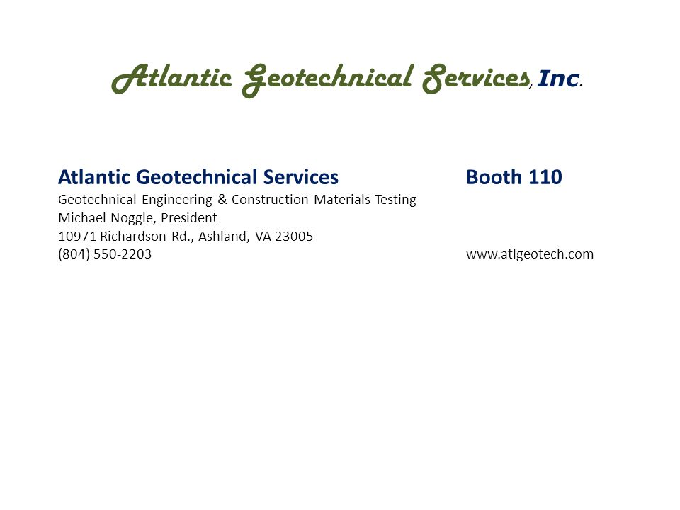 Atlantic Geotechnical Services, Inc.