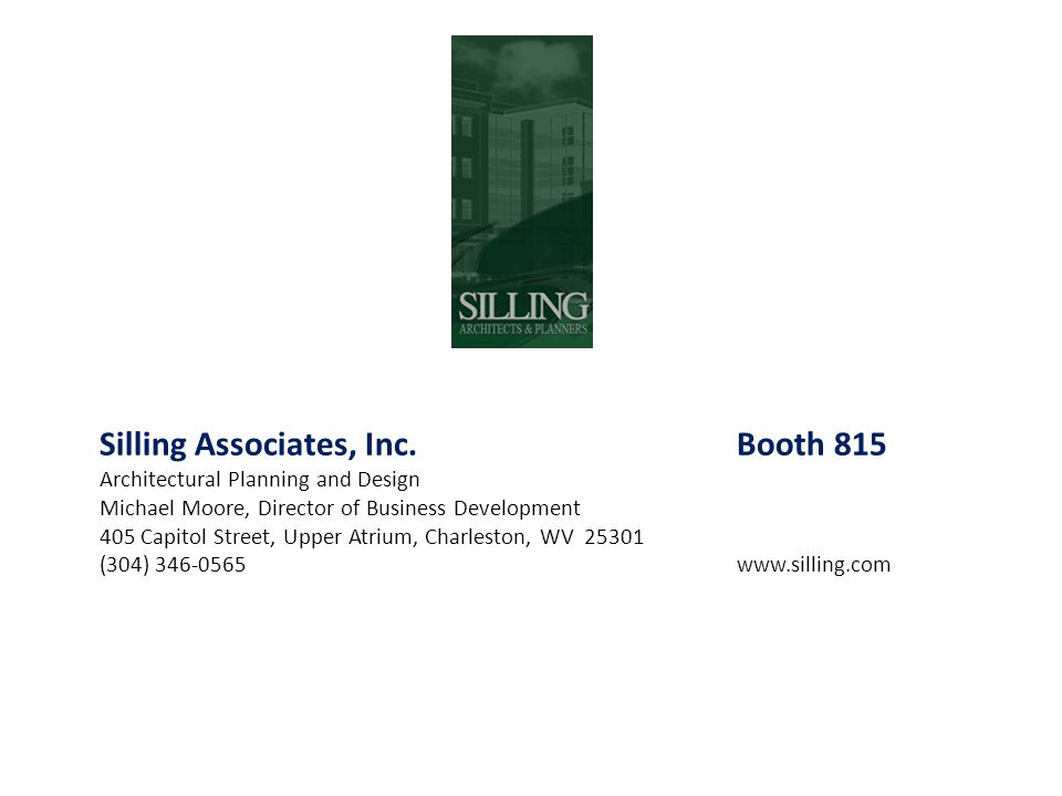Silling Associates, Inc. Booth 815