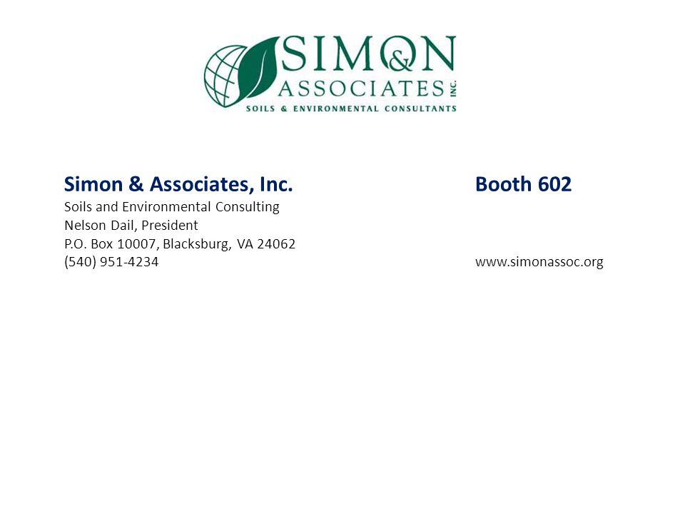 Simon & Associates, Inc. Booth 602