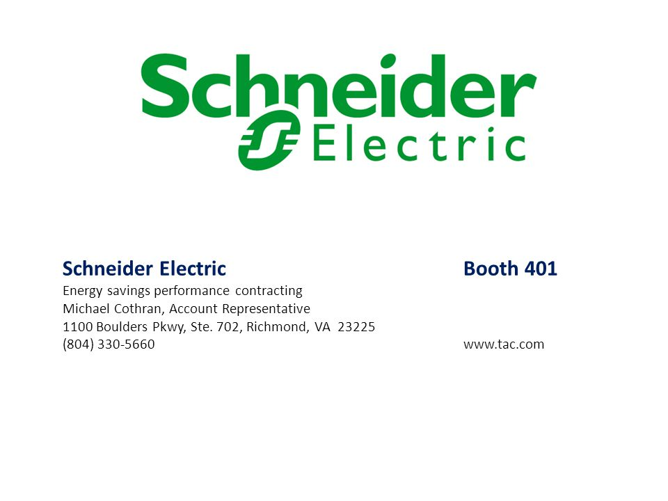 Schneider Electric Booth 401