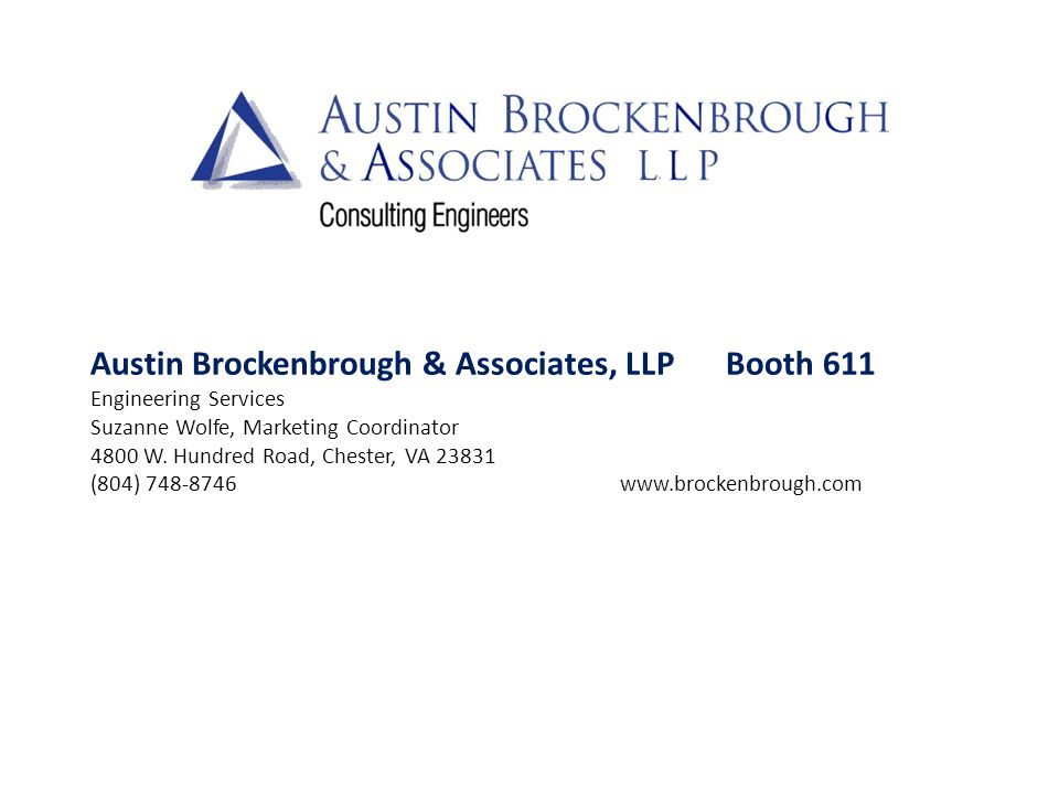 Austin Brockenbrough & Associates, LLP Booth 611