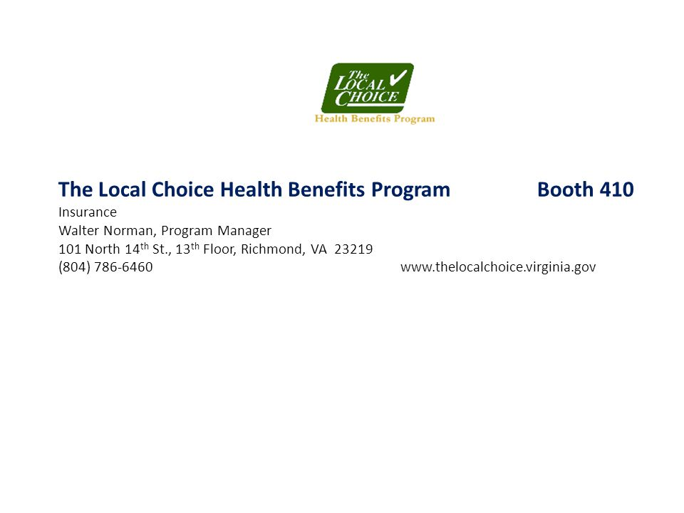 The Local Choice Health Benefits Program Booth 410