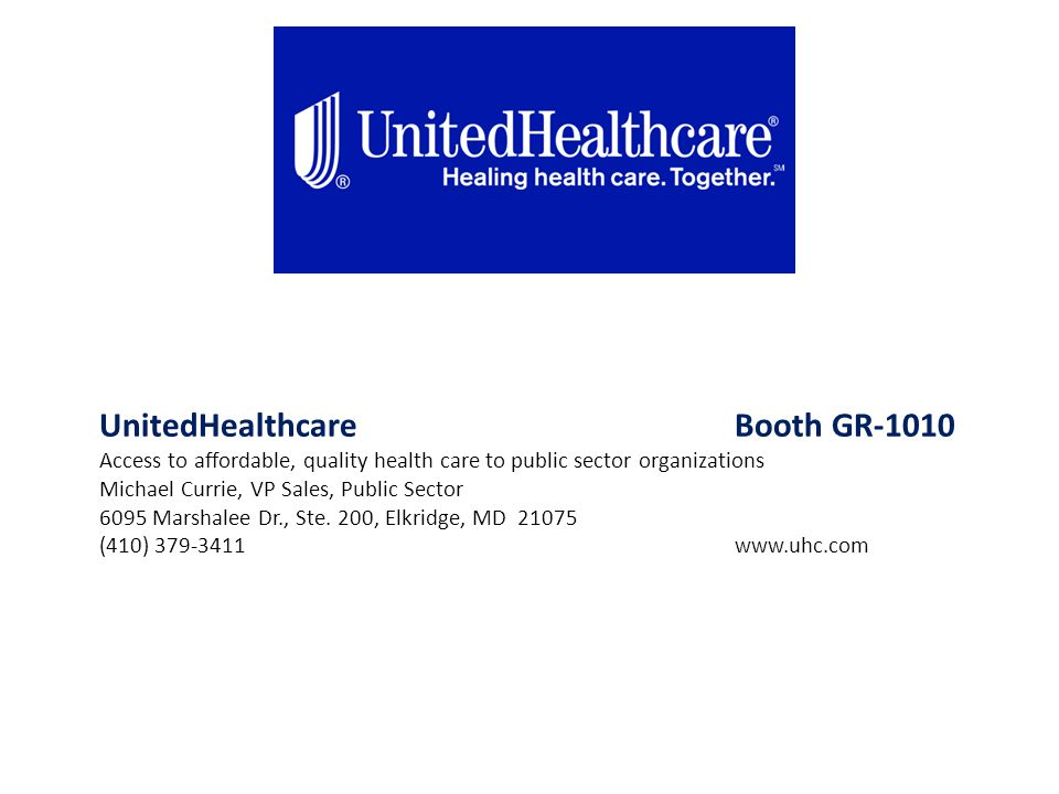 UnitedHealthcare Booth GR-1010