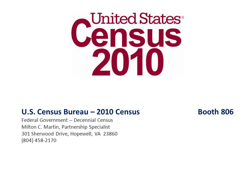 U.S. Census Bureau – 2010 Census Booth 806