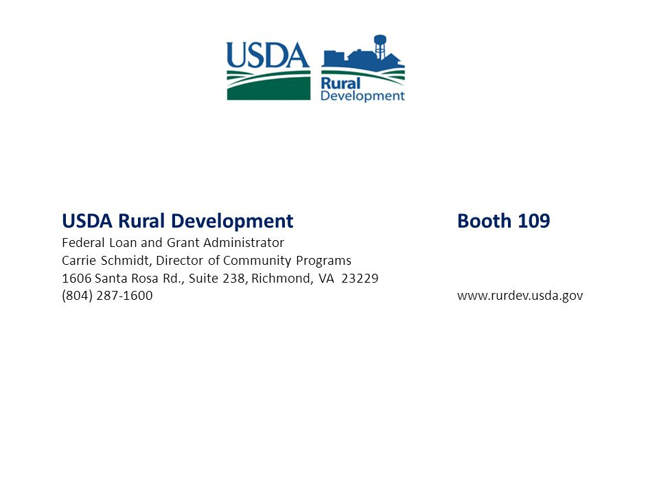 USDA Rural Development Booth 109