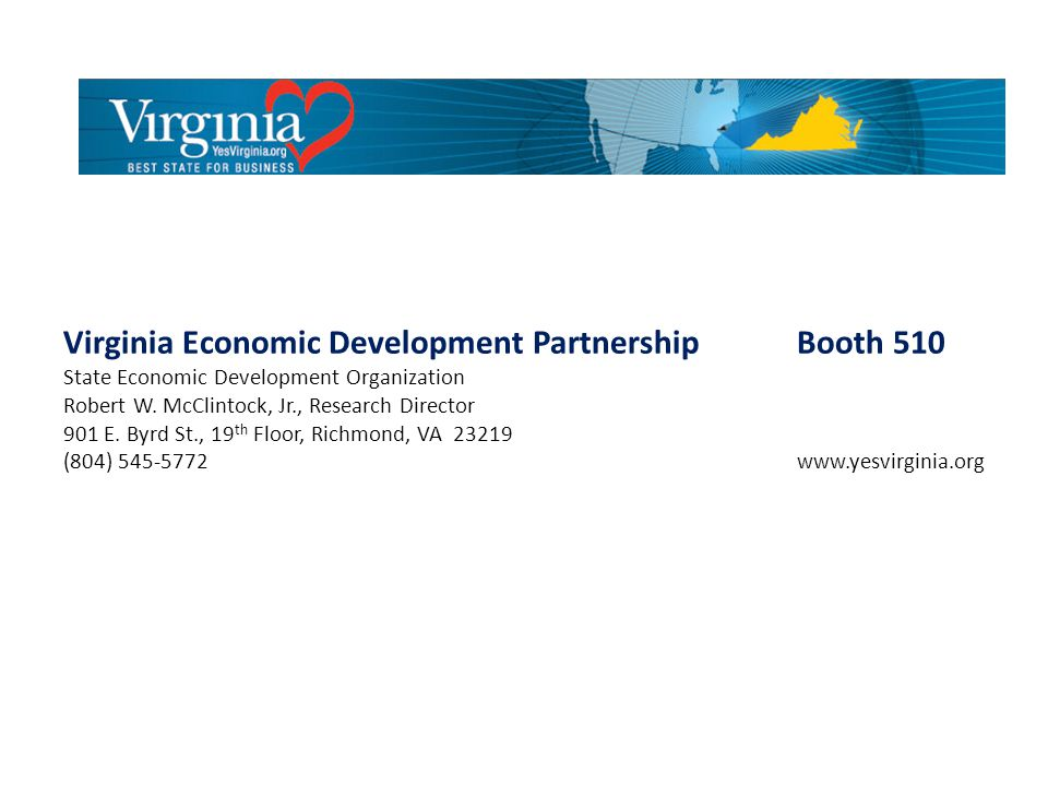 Virginia Economic Development Partnership Booth 510