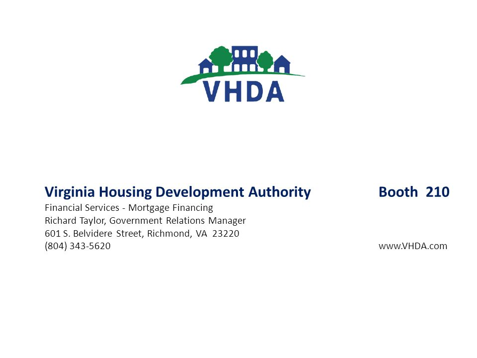 Virginia Housing Development Authority Booth 210