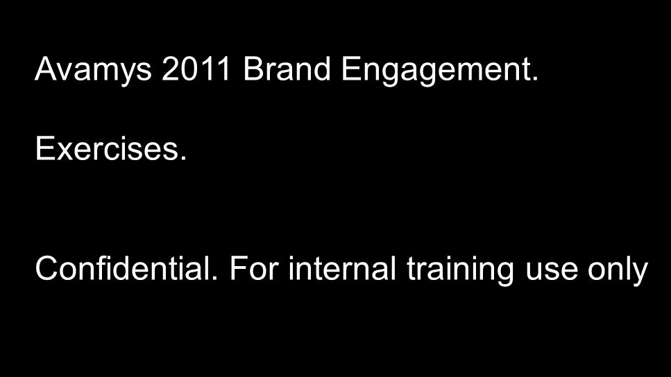 Avamys 2011 Brand Engagement.