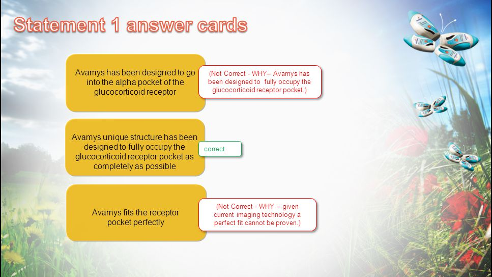 Statement 1 answer cards