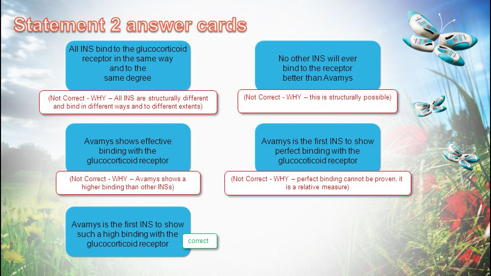 Statement 2 answer cards