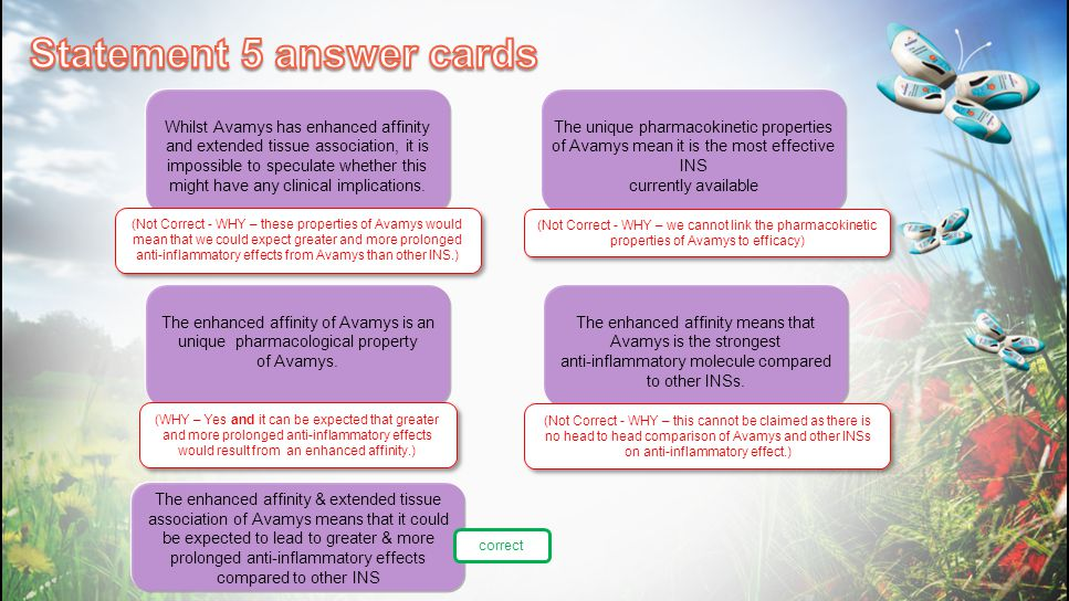 Statement 5 answer cards