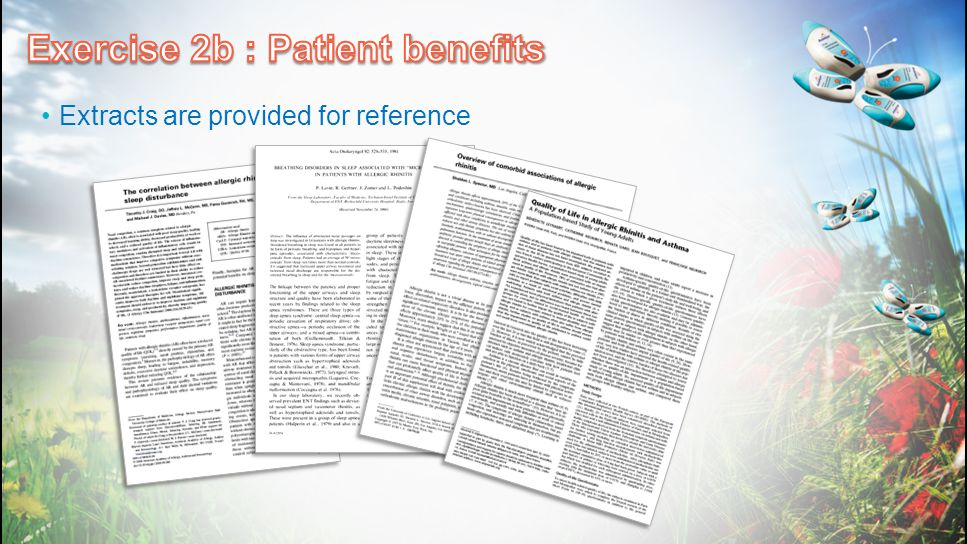 Exercise 2b : Patient benefits