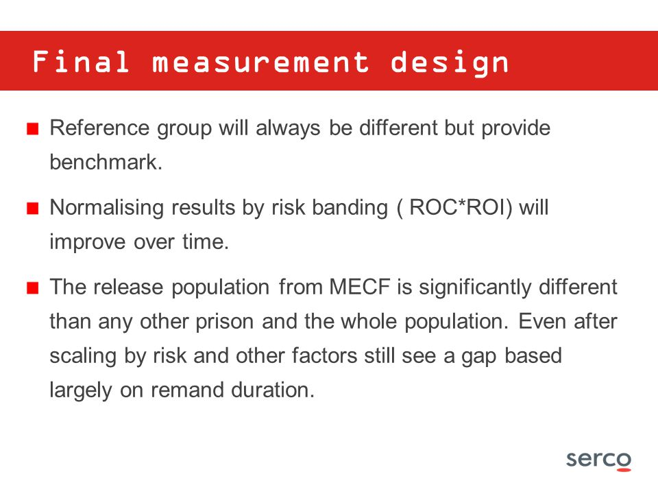 Final measurement design