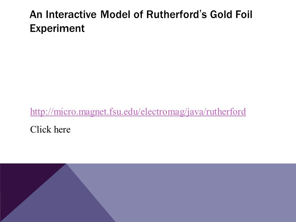 An Interactive Model of Rutherford's Gold Foil Experiment