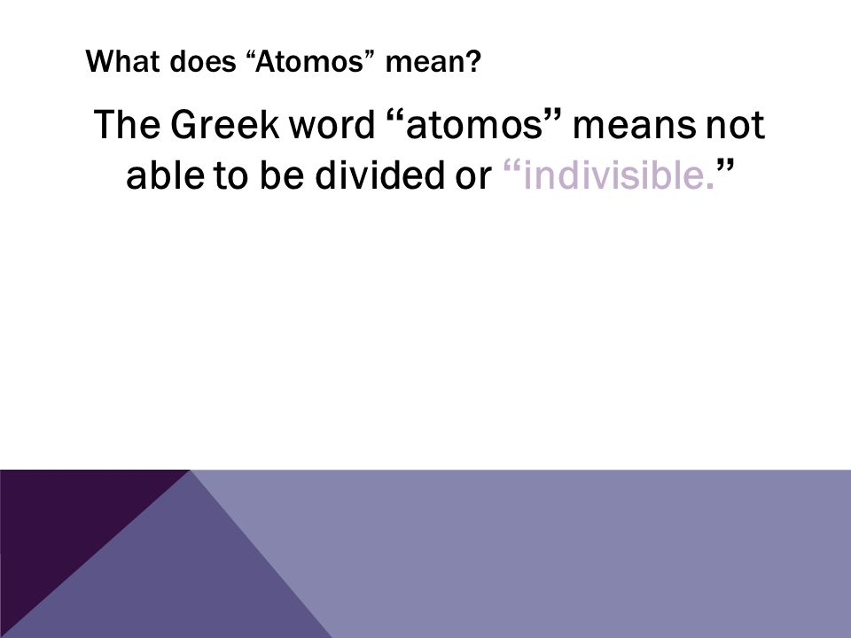 What does Atomos mean