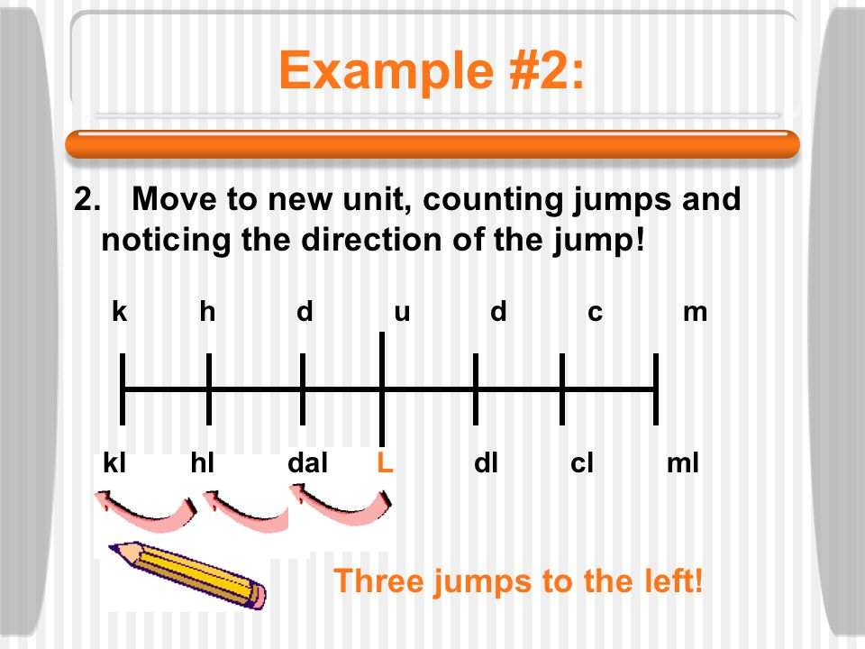 Example #2: Move to new unit, counting jumps and