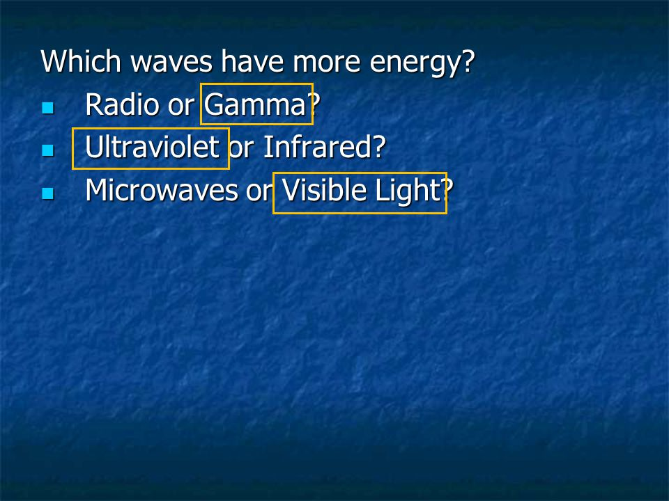 Which waves have more energy