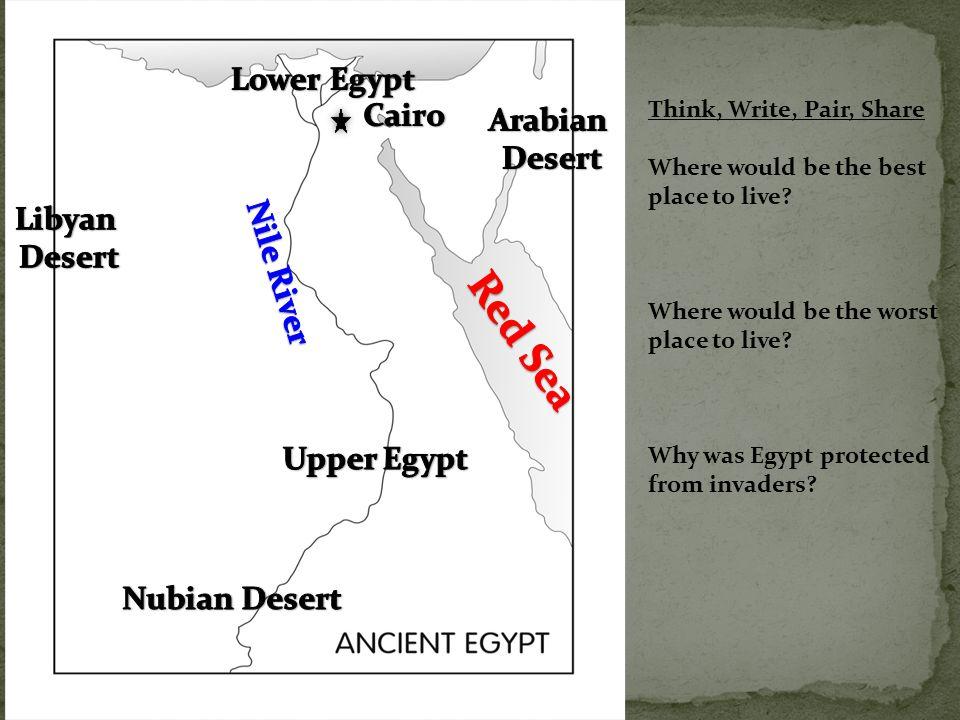 Red Sea Lower Egypt Cairo Arabian Desert Libyan Desert Nile River