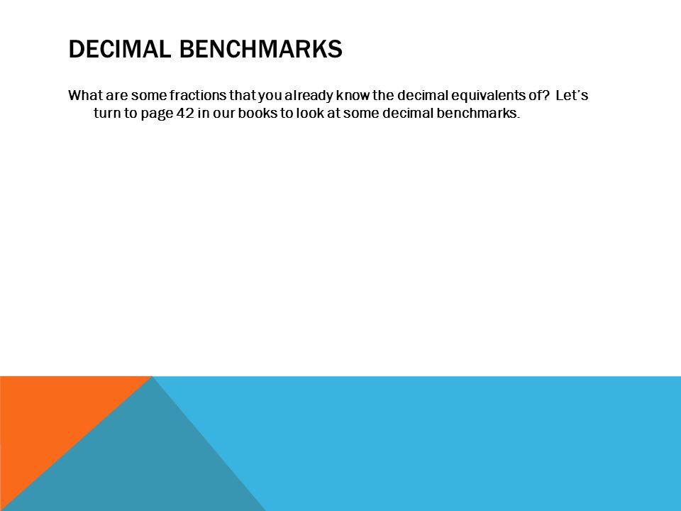 Decimal Benchmarks